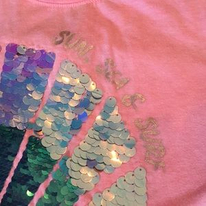 Justice Shirts & Tops - Sequined seashell t-shirt girls 18/20